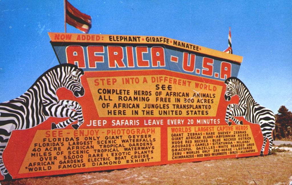 Africa USA Sign