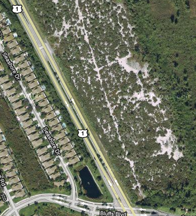 The Celestial Railroad trail still visible today