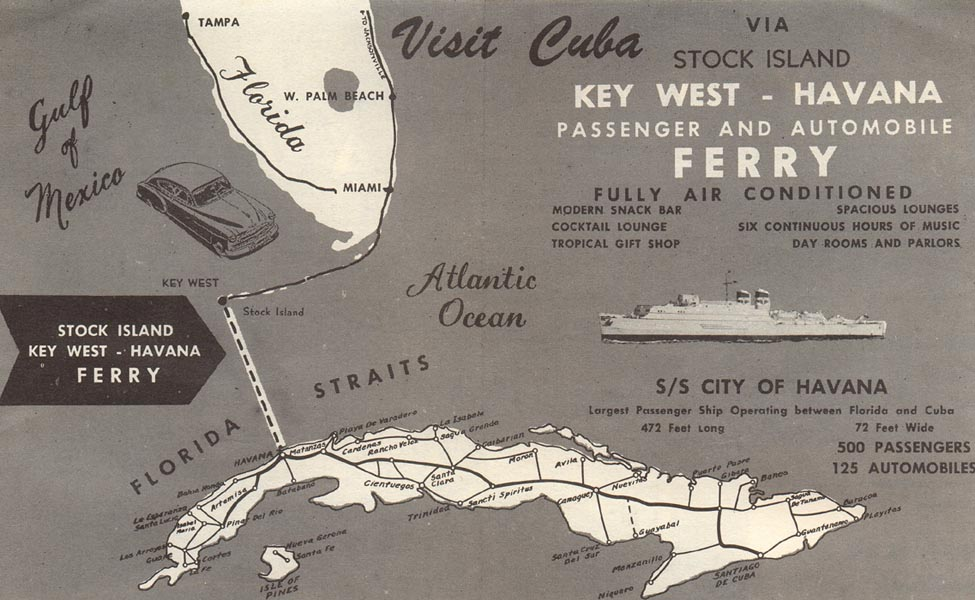 How about a drive to cuba it was possible in the 1950s a map gumiabroncs Image collections
